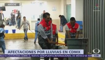 Lluvias inundan hospital y causan deslave en la CDMX