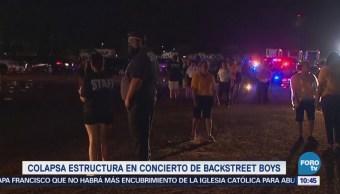 #LoEspectaculardeME: Colapsa estructura en concierto de Backstreet Boys