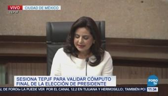 Magistrada Soto reconoce la legitimidad de los votos a favor de AMLO