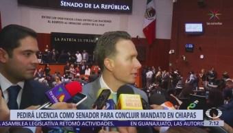 Manuel Velasco será senador y gobernador sustituto al mismo tiempo