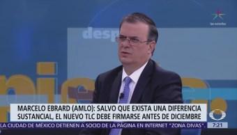 Marcelo Ebrard habla de la Línea 12, Trump y AMLO, Despierta