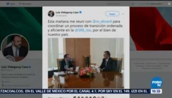 Reunión Luis Videgaray Con Marcelo Ebrard Coordinar Transición Ser