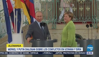 Merkel y Putin Conflictos Ucrania Siria Alemania