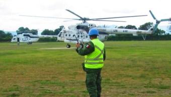 México despliega personal militar y policial en Operaciones de Paz de la ONU: Cancillería
