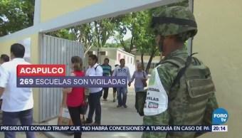 Militares resguardaron regreso a clases en Guerrero