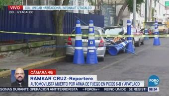 Muere Automovilista Disparo Arma Fuego Iztacalco