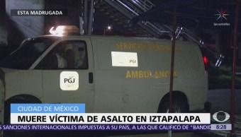 Muere víctima de asalto en Iztapalapa, CDMX