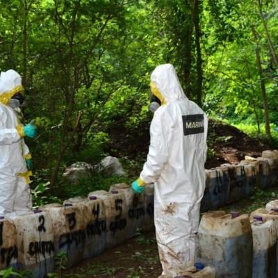 Golpe al narco en Sinaloa: Marina incauta 50 toneladas de crystal