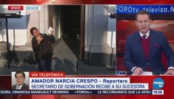 Navarrete Prida y Sánchez Cordero se reúnen en Gobernación