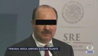 Niegan amparo a César Duarte