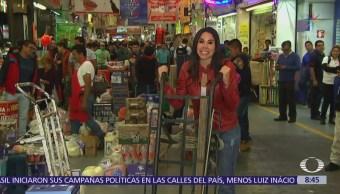 Paola Rojas recorre la Central de Abasto CDMX