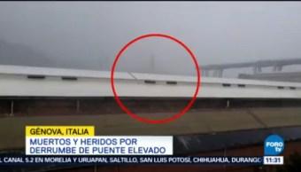 Muertos Heridos Derrumbe Puente Elevado Génova
