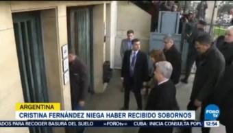 Cristina Fernández Niega Haber Recibido Sobornos