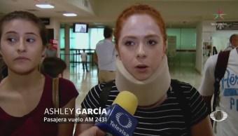 Pasajeros Vuelo Accidentado Aeroméxico Reinician Viaje