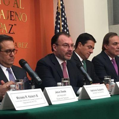 Pase lo que pase con Canadá, México tiene TLC con Estados Unidos: Videgaray