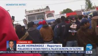 Pelean pobladores de Tultepec y granaderos, por operativos contra pirotecnia