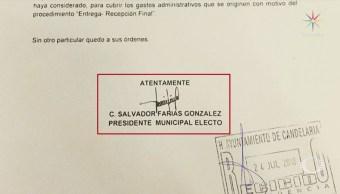 Perla Negra Presidente Municipal Auto Envía Oficio