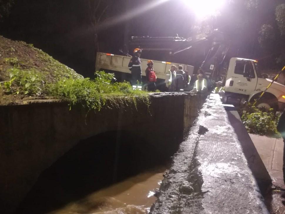 Lluvias en CDMX amenazan con inundaciones, desbordamientos de presas y río