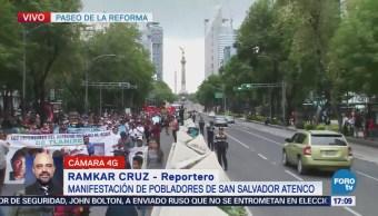 Pobladores de San Salvador Atenco toman Paseo de la Reforma
