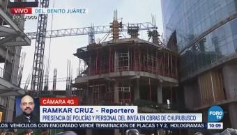 Policías CDMX participan en operativo del Invea en Churubusco