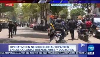 Policías Cdmx Enfrentan Hombres Durante Operativo Buenos Aires