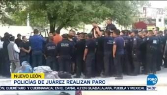 Policías Municipio Juárez Realizan Paro Labores