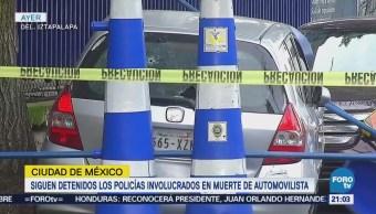 Policías involucrados en muerte de conductor siguen detenido