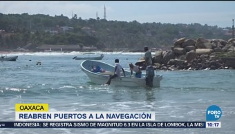 Reabren Puertos Navegación Oaxaca Tras Mar Fondo