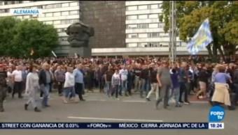 Protestas Contra Extranjeros Alemania Discusión Callejera Murió Un Hombre Ola De Violencia