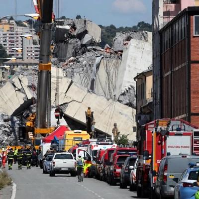 Puente derrumbado en Génova pasaba controles periódicos, según concesionaria