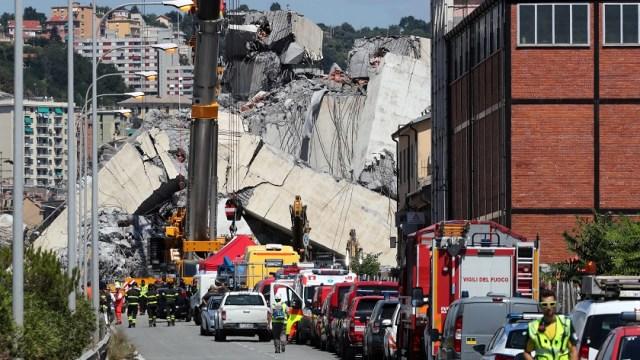 Puente derrumbado en Génova pasaba controles periódicos