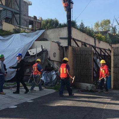 Inicia remoción de escombros de Colegio Rébsamen