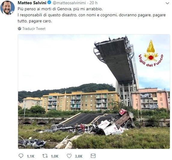 Puente desplomado en Génova pasaba controles periódicos
