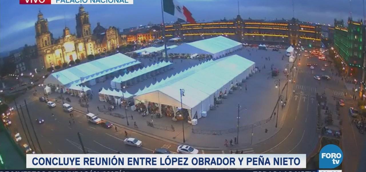 Reunión AMLO EPN Palacio Nacional