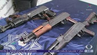 Rifles bañados en oro, decomisados en Chihuahua