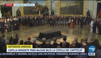 Rinden tributo al senador John McCain en Washington