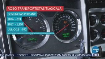 Robo Transportistas México Puebla Tlaxcala Crimen