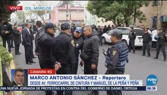 Balacera dos muertos colonia Morelos cinco detenidos CDMX Ciudad de México