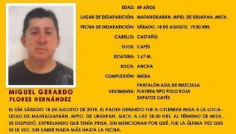 Hallan cuerpo de sacerdote desaparecido en Michoacán