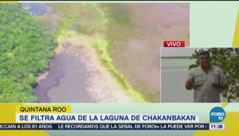 Se filtra agua de la laguna de Chakanbakan