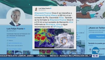 Se forma la tormenta tropical 'Ileana'