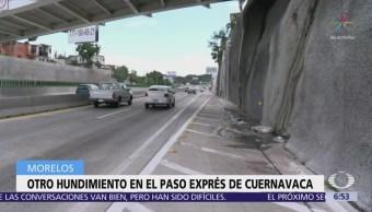 Se forma nuevo hudimiento en Paso Exprés de Cuernavaca