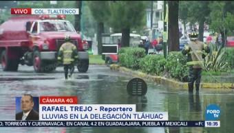 Se Registra Inundación Tláhuac Fuertes Lluvias Elementos De Emergencias Ya Laboran En La Zona