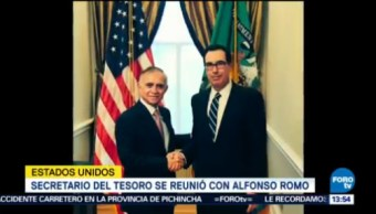 Reúne Alfonso Romo Steven Mnuchin