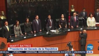 Senadores Rinden Protesta Durante Sesión Constitutiva