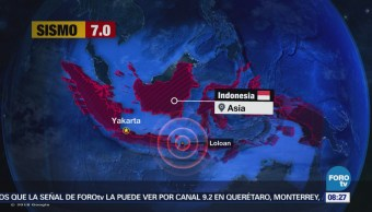 Sismo de magnitud 7.0 sacude a Indonesia