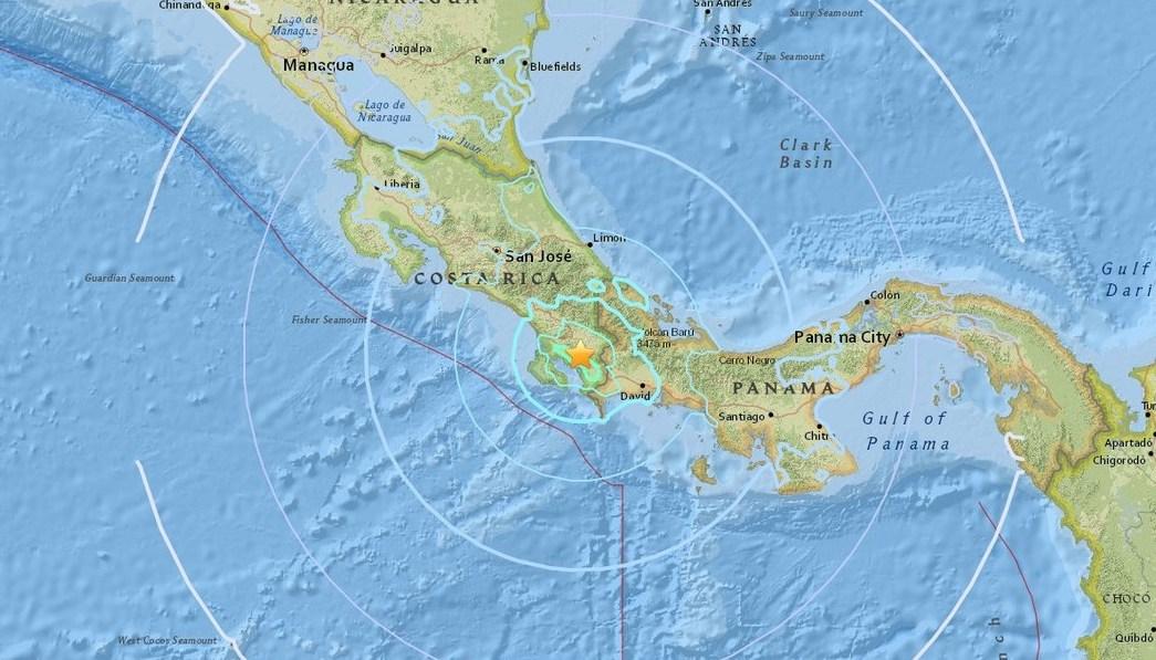 Sismo sacude Costa Rica y Panamá con una magnitud de 6.2