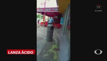 Sujeto lanza ácido contra vendedora en Cancún