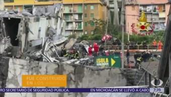 Suman 37 muertos por colapso del puente Morandi en Genova