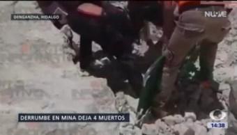 Suman 4 Muertos Derrumbe Mina Hidalgo